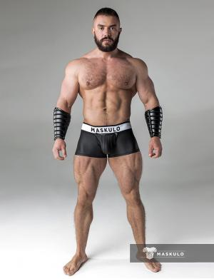 Maskulo Rubber look Trunks. Detachable pouch. Zippered rear. sch