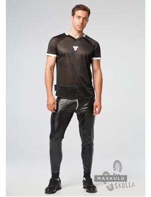 Maskulo Skulla. Men's Fetish T-Shirt weiß
