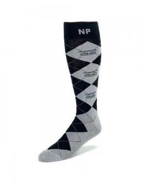 Nasty Pig Argyle Dress Socks grau