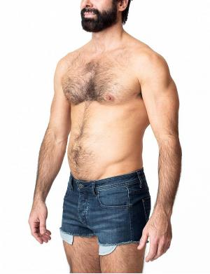 Nasty Pig Denim Jeans Shorts Blau
