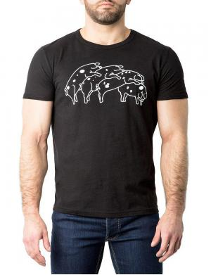 Nasty Pig Humping Pigs T-Shirt schwarz