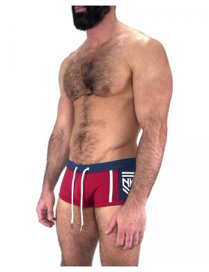 Nasty Pig Insignia Square Cut Trunk red / navy / weiß