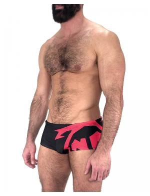 Nasty Pig Mega Brand Sunga Trunk black / red