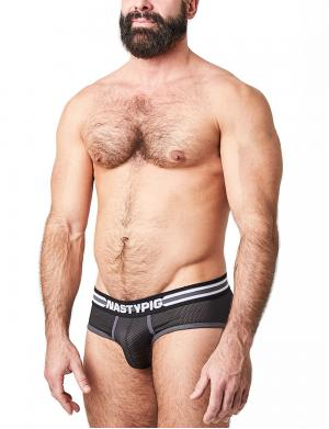 Nasty Pig Spitfire Mesh Brief Schwarz