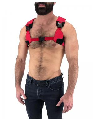 Nasty Pig Troop Harness schwarz / rot