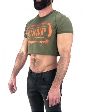 Nasty Pig USNP Crop Top Tee olive