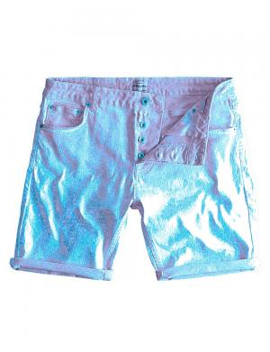 SOLID Denim Shorts - Lt Joy Str. blau