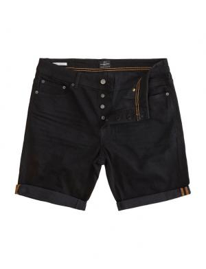 SOLID Denim Shorts - Lt Ryder Str. schwarz