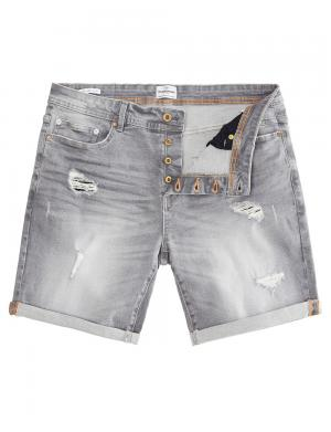 SOLID Denim Shorts - Lt Ryder Stretch grau