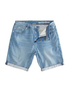 SOLID Hybrid Denim Shorts - Lt Ryder Str. hellblau