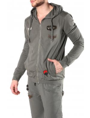 Absolut Joy Sweat Jacke Airforce Armeegrün