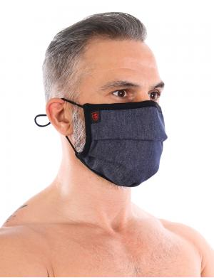 TOF Paris Denim Pleated Maske + 5 Filter Denim