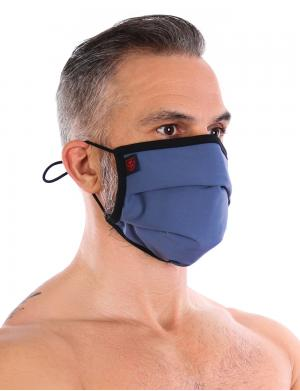 TOF Paris Fashion Pleated Maske + 5 Filter Blau
