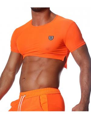 TOF Paris Happy Neon Crop Top Neonorange
