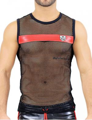 TOF Paris Spartacus Tank Top black / red